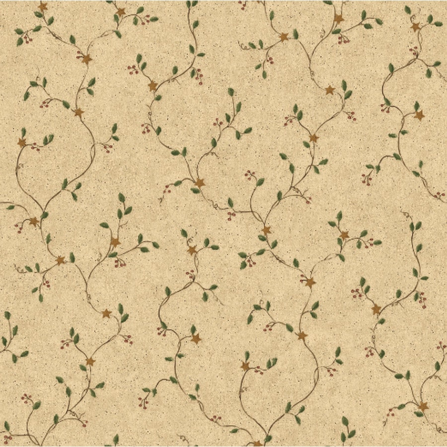 York Wallcoverings Country Book Taupe Paper Ivy/Vines Wallpaper