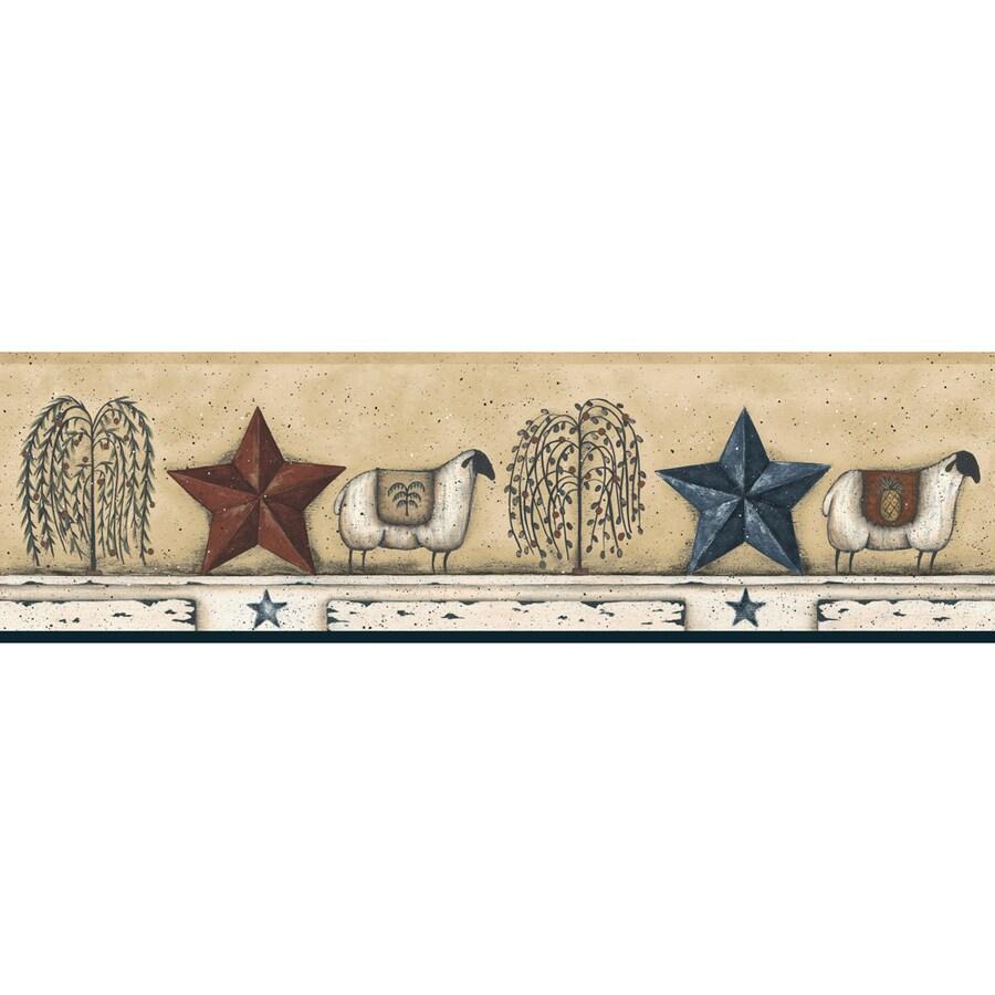 York Wallcoverings 6-in Almond Prepasted Wallpaper Border