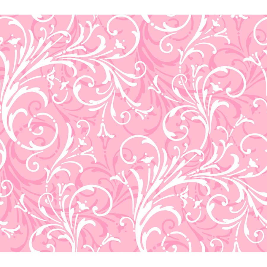 York Wallcoverings Pink Paper Abstract Wallpaper