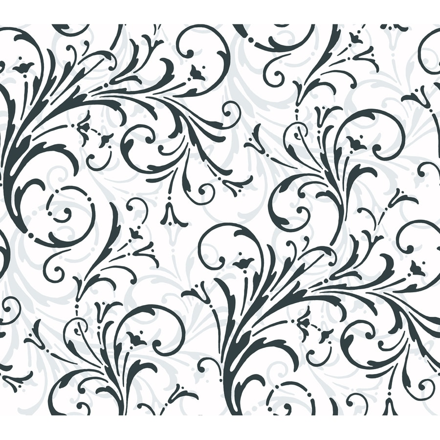 Inspired By Color Black and White Book Black Paper Scroll Wallpaper