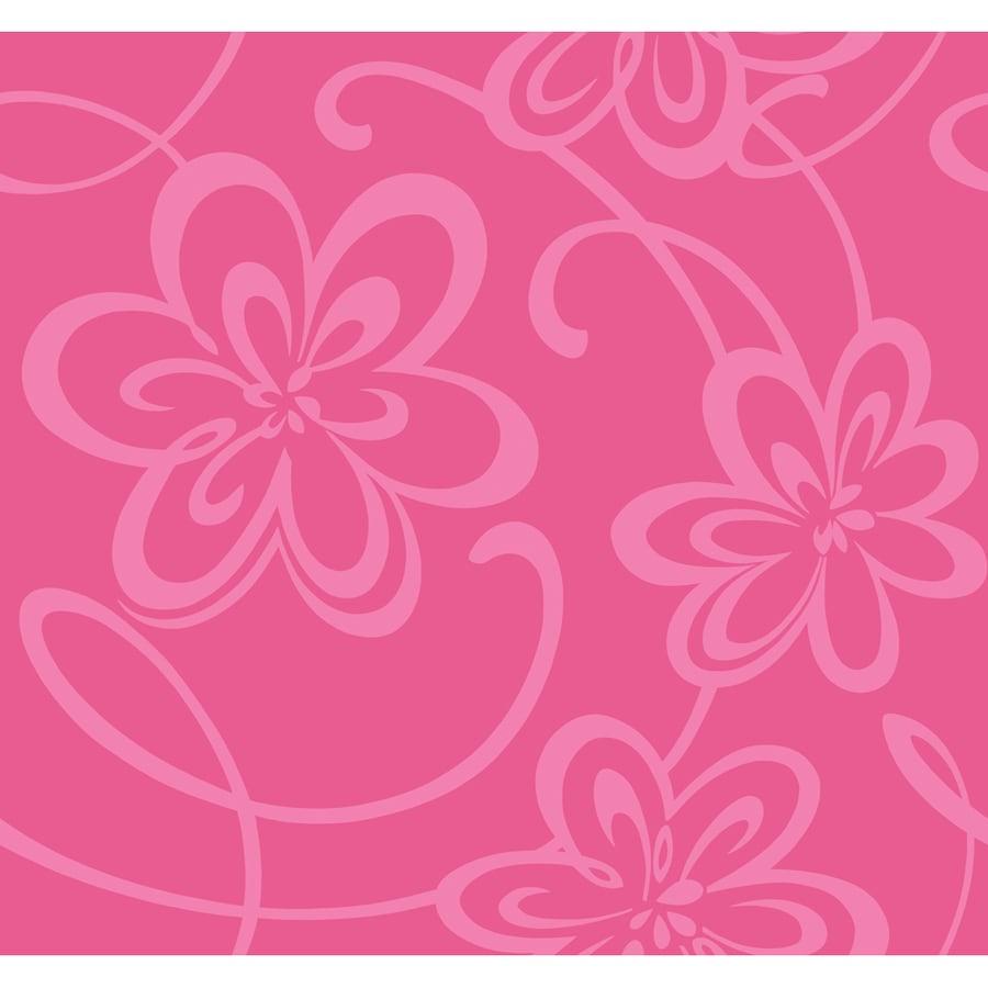 York Wallcoverings Pink Paper Floral Wallpaper