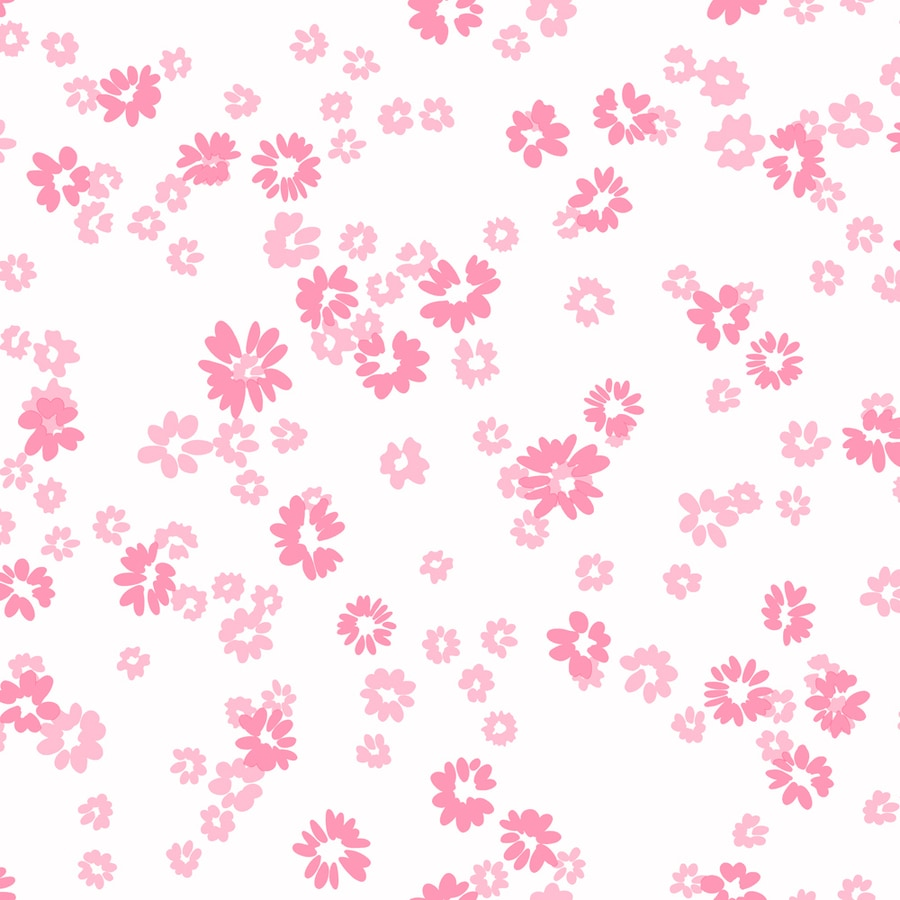 York Wallcoverings Pink Paper Floral Wallpaper