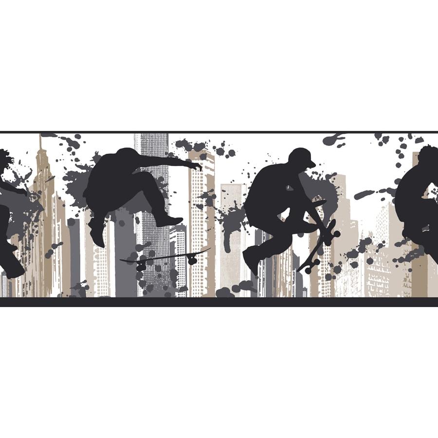 York Wallcoverings Gray Paper Wallpaper