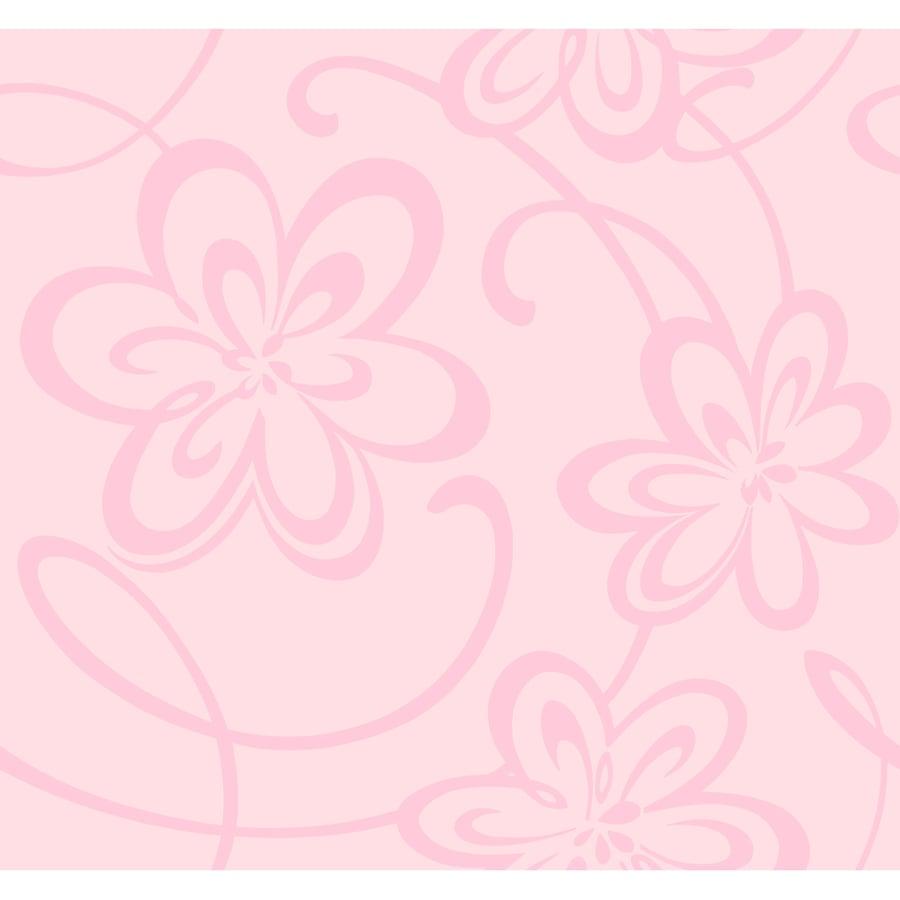 York Wallcoverings Light Pink Paper Floral Wallpaper