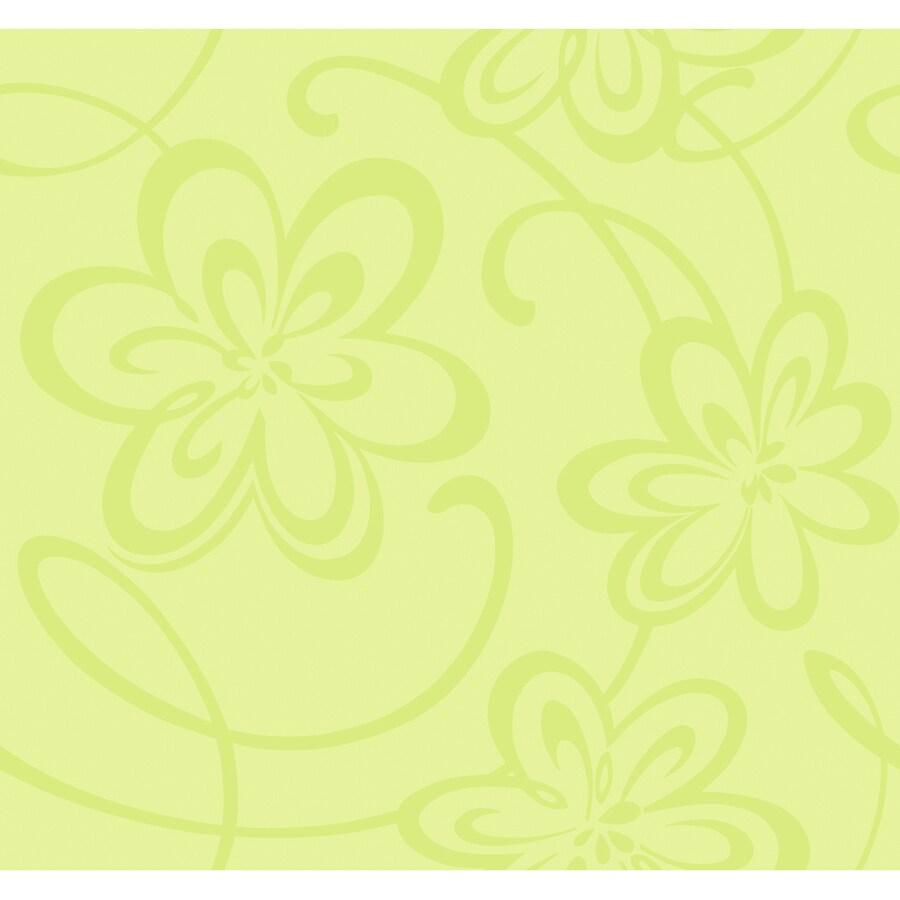 York Wallcoverings Green Paper Wood Wallpaper