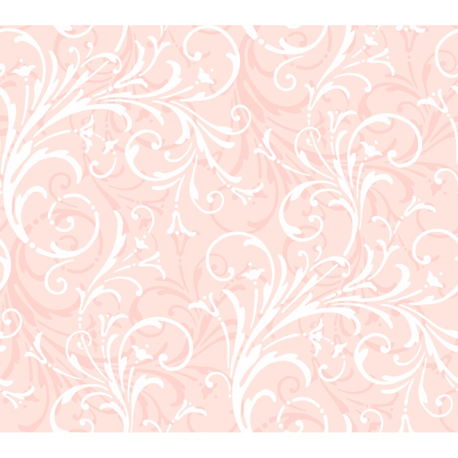 York Wallcoverings Light Pink Paper Abstract Wallpaper
