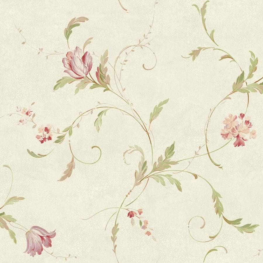 Inspired By Color Orange and Yellow Book Green and Pink Paper Floral Wallpaper
