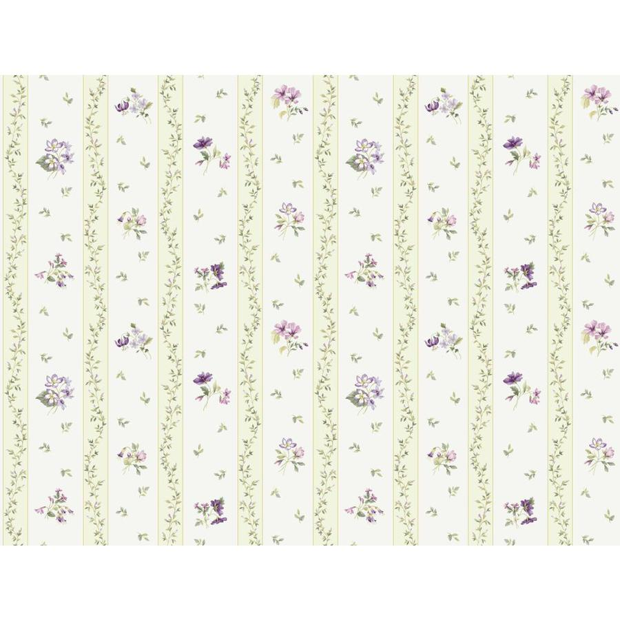 Inspired By Color Pink and Purple Book Green and Purple Paper Floral Stripe Wallpaper