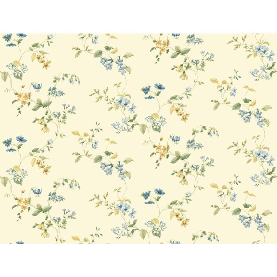 Inspired By Color Orange and Yellow Book Yellow and Blue Paper Floral Wallpaper