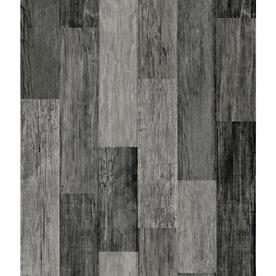 RoomMates RoomMates 28.2-sq ft Weathered Wood Plank Black Peel and Stick Wallpaper