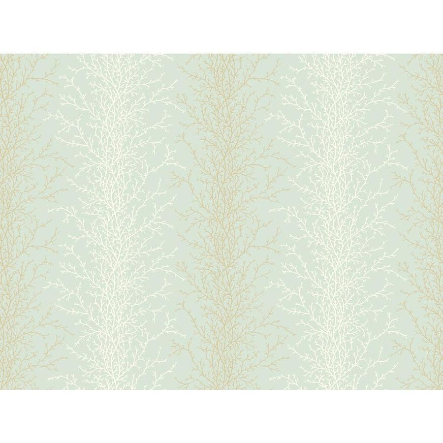 Inspired By Color Blue, White and Brown Paper Ivy/Vines Wallpaper