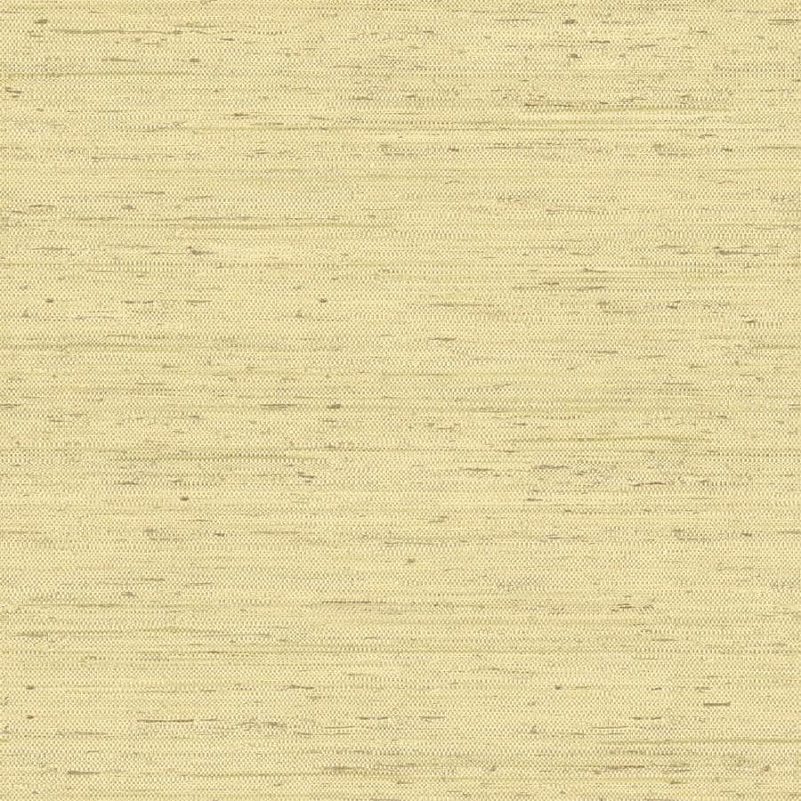 Inspired By Color Natural Elements Green and Cream Paper Textured Grasscloth Wallpaper