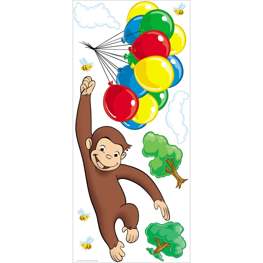 York Wallcoverings Curious George Appliques