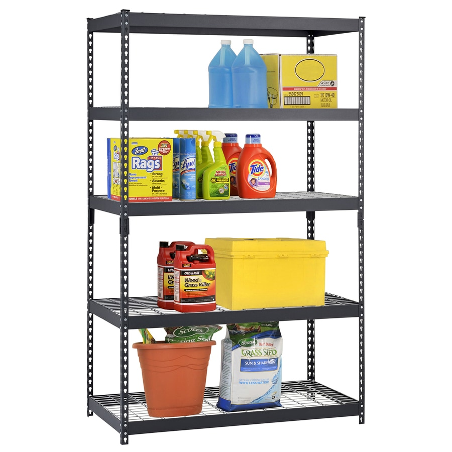 Shop edsal 72-in H x 48-in W x 24-in D 5-Tier Steel Freestanding ...