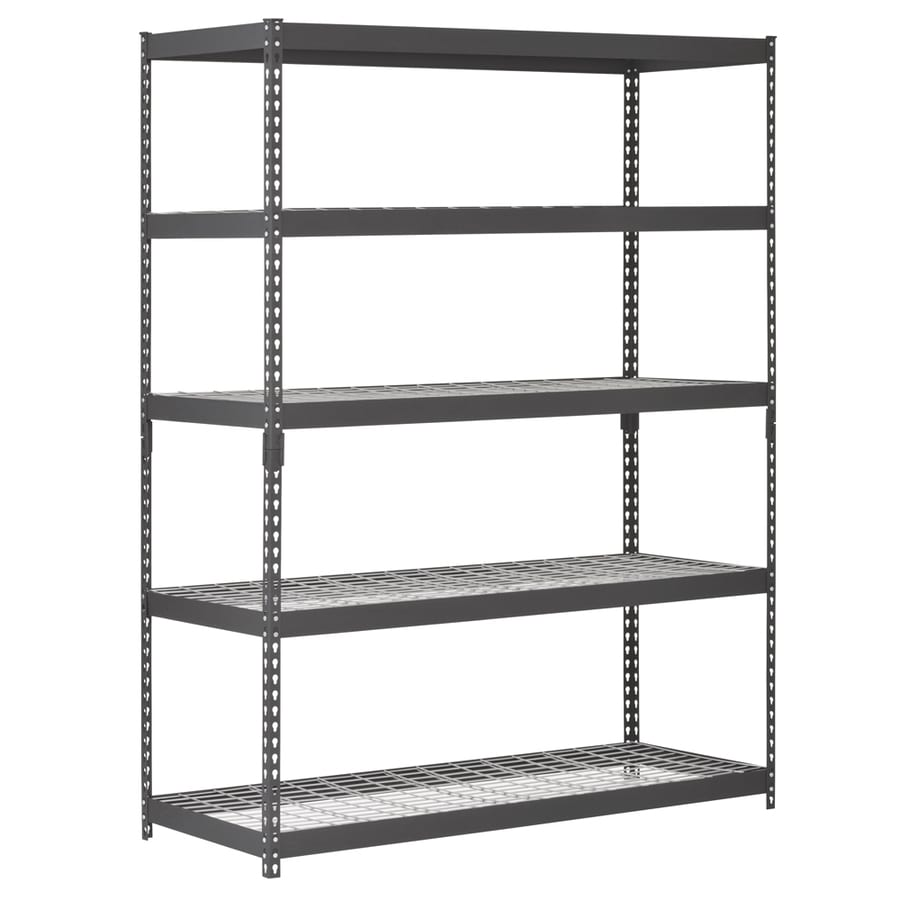 Edsal 5 shelf heavy duty steel shelving - Edsal 72 In H X 60 In W X 18 In D 5