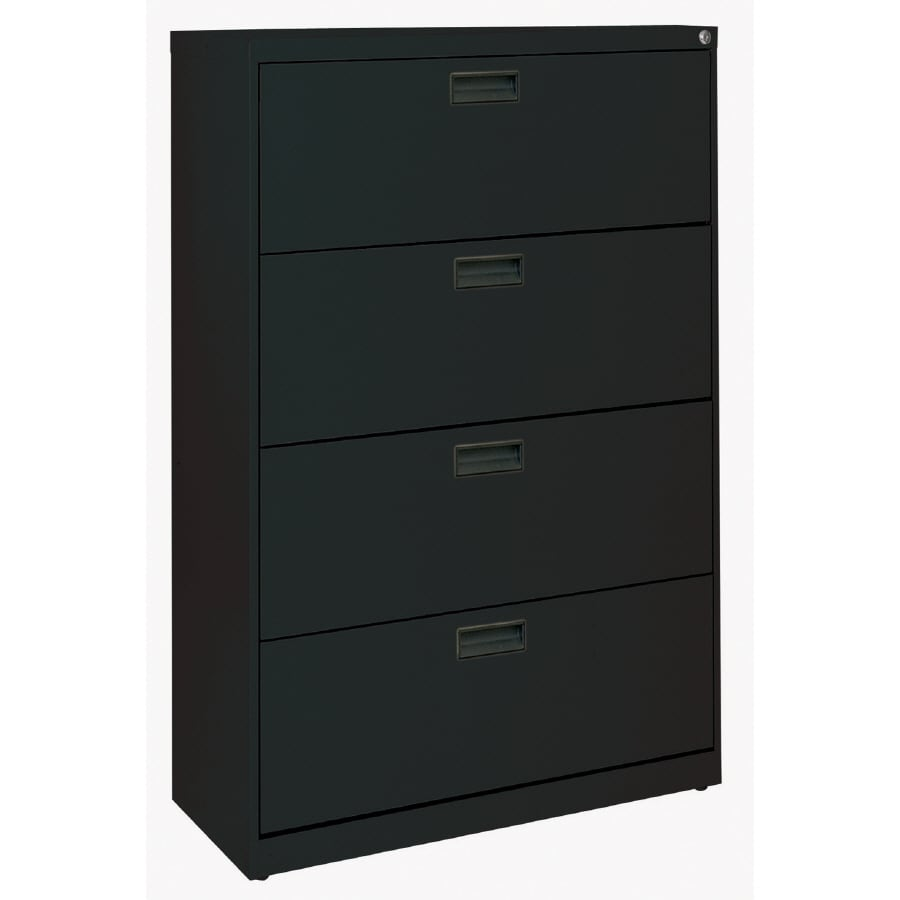 edsal Black 4-Drawer File Cabinet  sc 1 st  Loweu0027s : wooden file cabinets 4 drawer - Cheerinfomania.Com