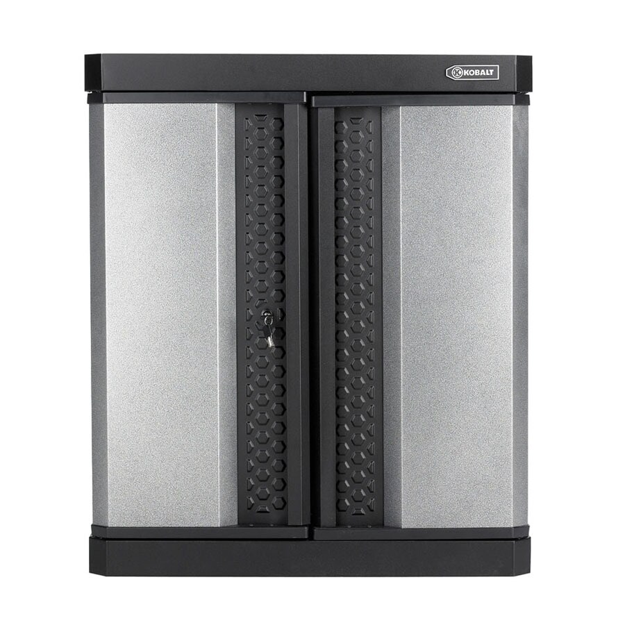 Kobalt 30-in W x 34-in H x 14-in D Steel Wall-Mount Garage Cabinet
