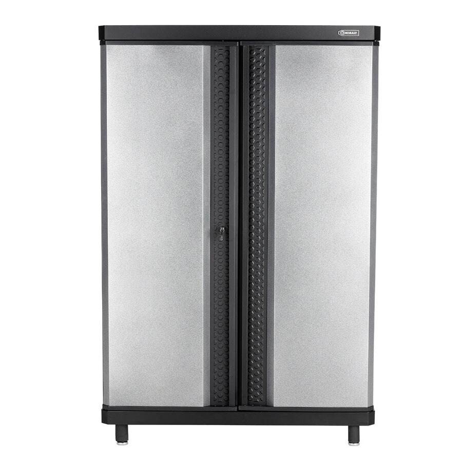 lowes garage storage cabinets shop kobalt 30 in w x 38 in h x 20 in d steel freestanding 22868