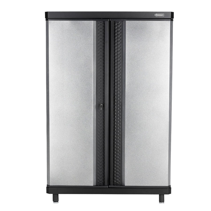 garage cabinets lowes shop kobalt 30 in w x 38 in h x 20 in d steel freestanding 15706