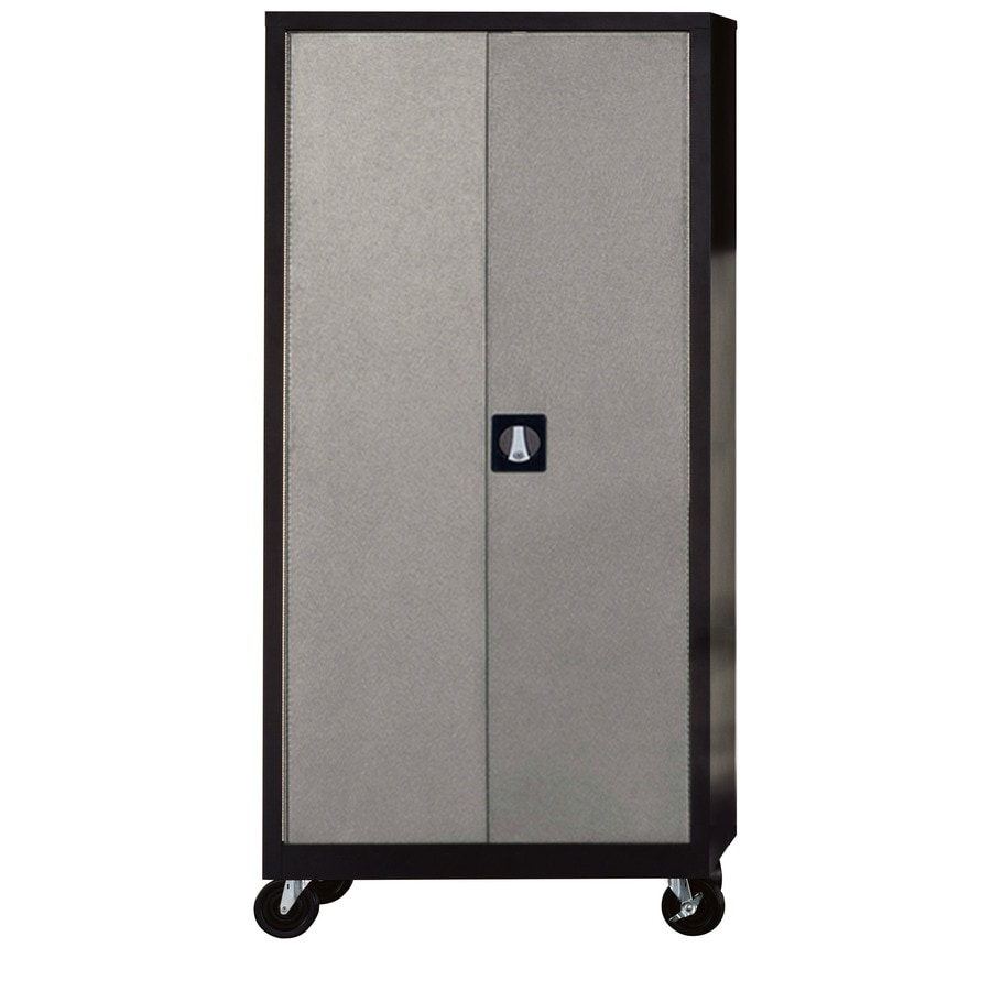 lowes metal cabinets shop edsal 36 in w x 72 in h x 18 in d steel freestanding 22920