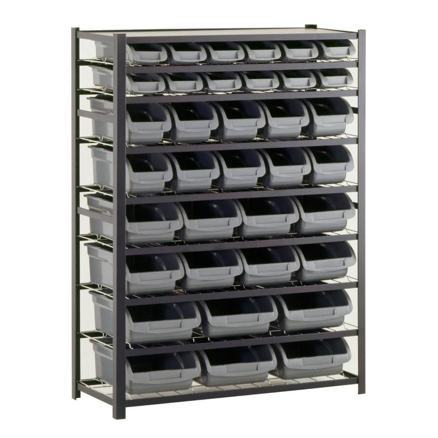edsal 57-in H x 44-in W x 16-in D 8-Tier Steel Freestanding Shelving Unit