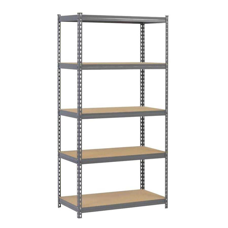 Edsal 5 shelf heavy duty steel shelving - Edsal 72 In H X 36 In W X 18 In D 5