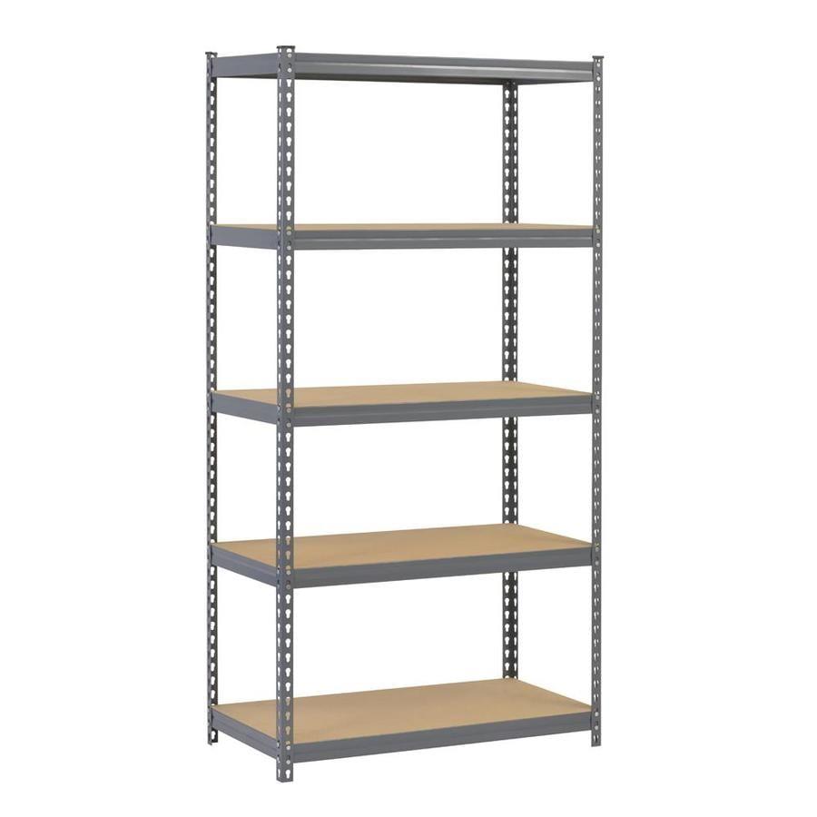 shop edsal 72 in h x 36 in w x 18 in d 5 tier steel. Black Bedroom Furniture Sets. Home Design Ideas