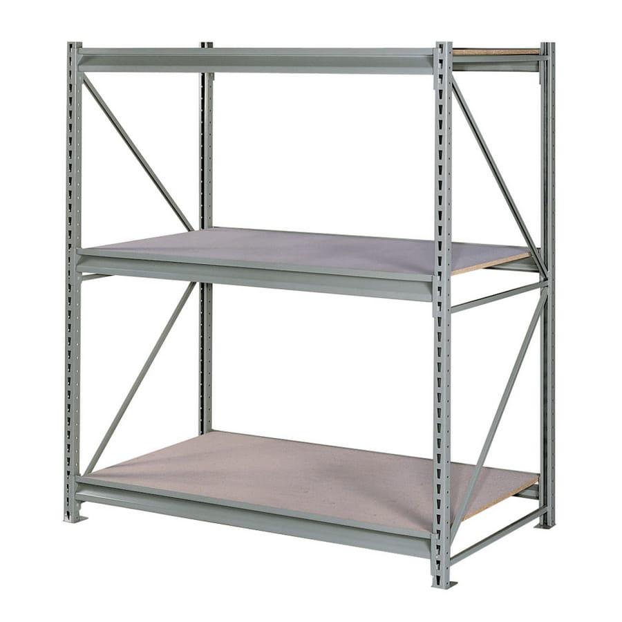 edsal 72-in H x 60-in W x 24-in D 3-Tier Wood Freestanding Shelving Unit