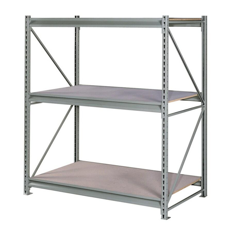 edsal 72-in H x 60-in W x 36-in D 3-Tier Steel Freestanding Shelving Unit