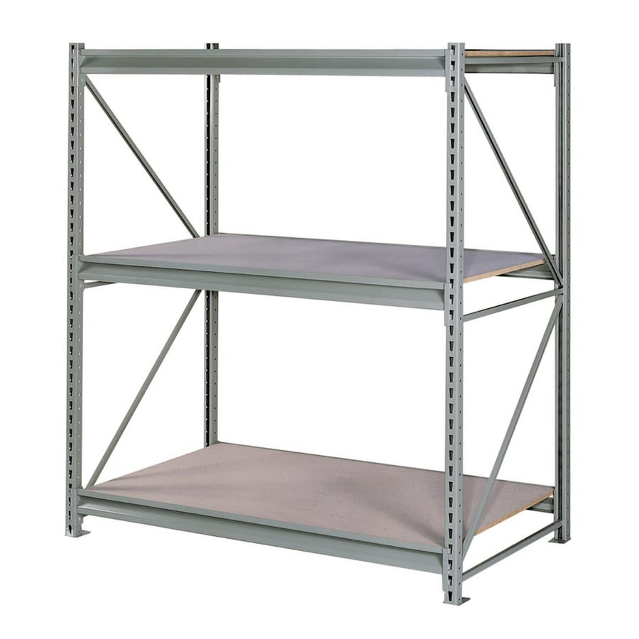 edsal 72-in H x 96-in W x 24-in D 3-Tier Steel Freestanding Shelving Unit