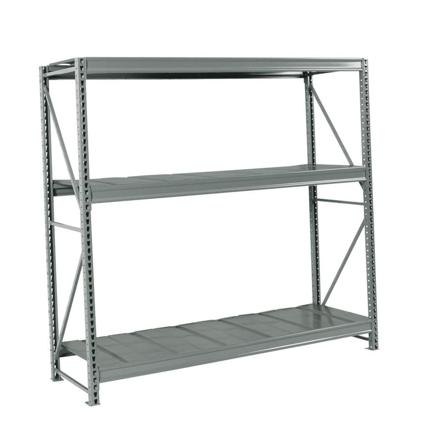 shelving units lowes shop edsal rack 120 in h x 72 in w x 24 in d steel 26054