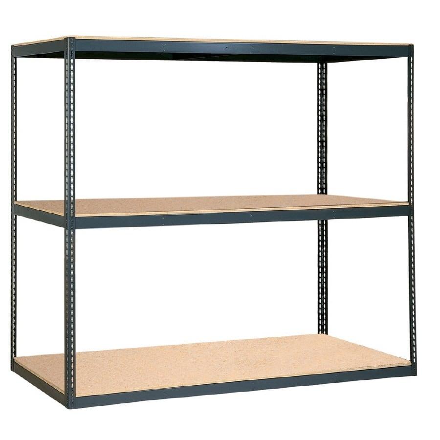 edsal 84-in H x 96-in W x 24-in D 3-Tier Steel Freestanding Shelving Unit