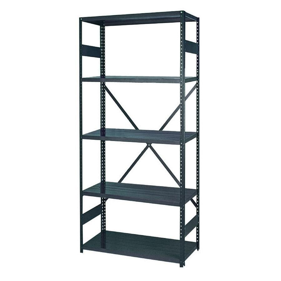 edsal 75-in H x 36-in W x 12-in D 5-Tier Steel Freestanding Shelving Unit