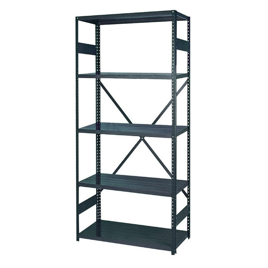 edsal 75-in H x 36-in W x 24-in D 5-Tier Steel Freestanding Shelving Unit