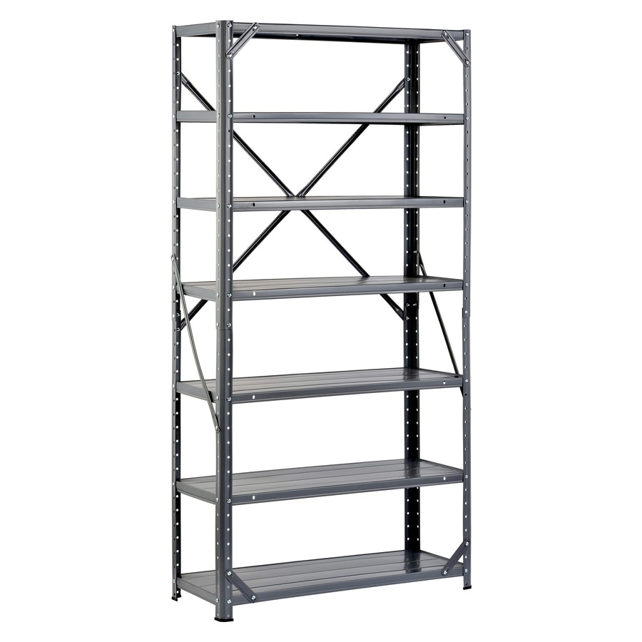 edsal 60-in H x 30-in W x 12-in D 7-Tier Steel Freestanding Shelving Unit