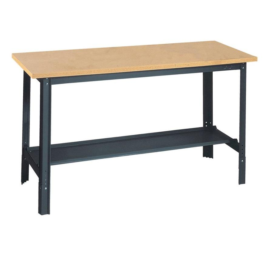 Shop Edsal 48 In W X 34 In H Adjustable Height Wood Work Bench At