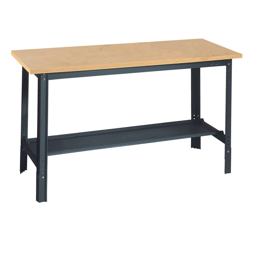 edsal 72-in W x 34-in H Adjustable Height Wood Work Bench