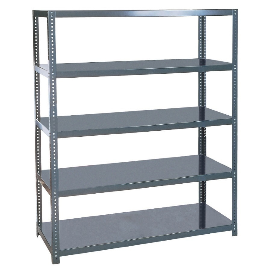 edsal 96-in H x 48-in W x 24-in D 5-Tier Steel Freestanding Shelving Unit