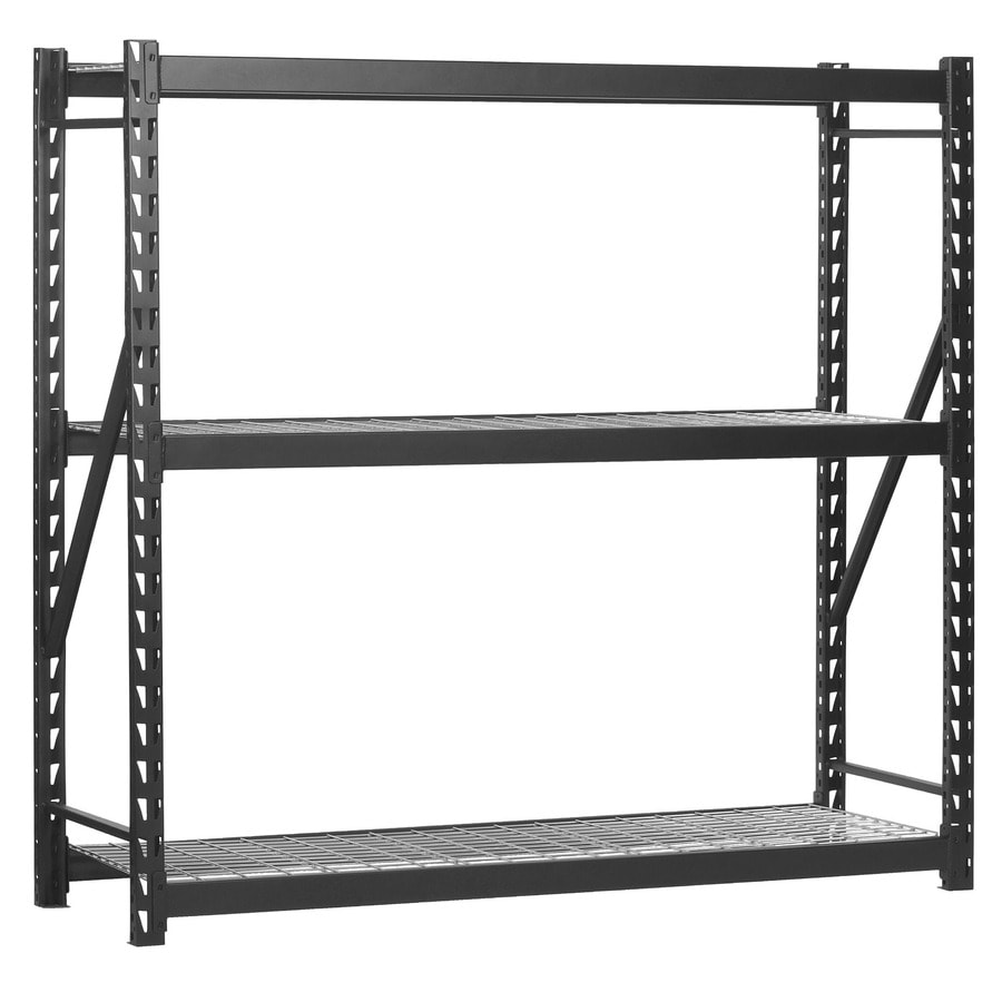 Edsal 5 shelf heavy duty steel shelving - Edsal 72 In H X 77 In W X 24 In D 3