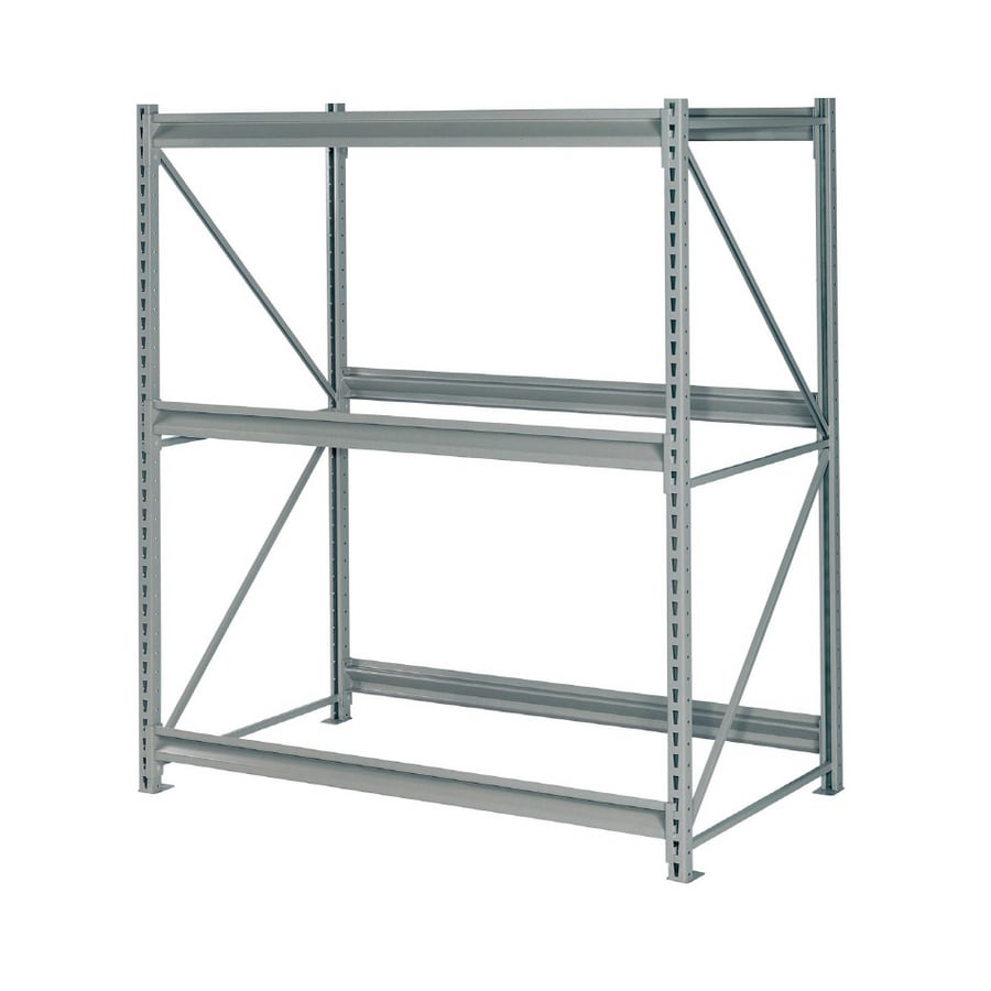 edsal 120-in H x 72-in W x 36-in D 3-Tier Steel Freestanding Shelving Unit