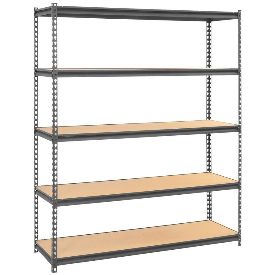 edsal 72-in H x 60-in W x 18-in D 5-Tier Steel Freestanding Shelving Unit