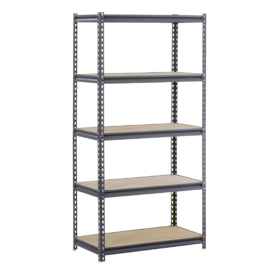 edsal 72-in H x 36-in W x 24-in D 5-Tier Steel Freestanding Shelving Unit