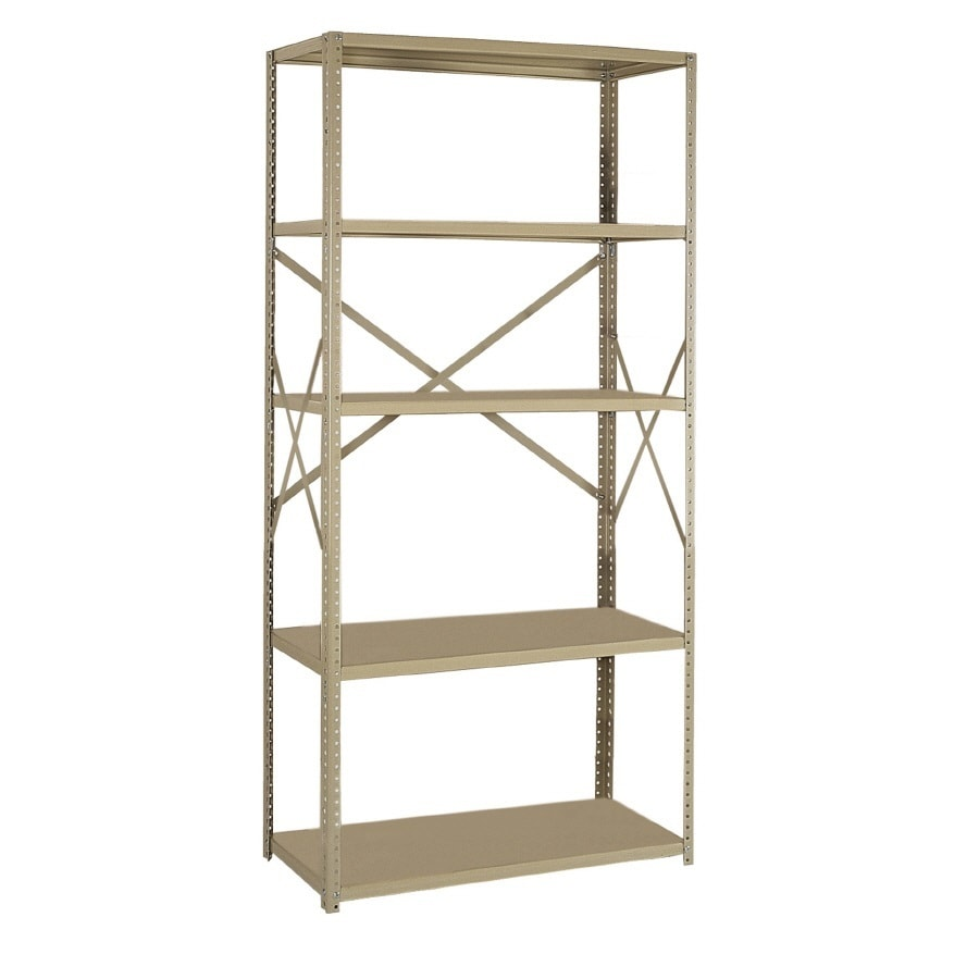 edsal 75-in H x 36-in W x 18-in D 5-Tier Steel Freestanding Shelving Unit