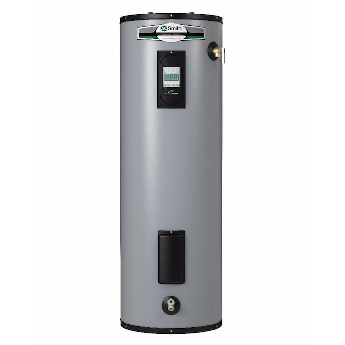 A O Smith Signature Premier 50 Gallon Tall 12 Year Limited 5500 Watt Double Element Electric Water Heater In The Electric Water Heaters Department At Lowes Com