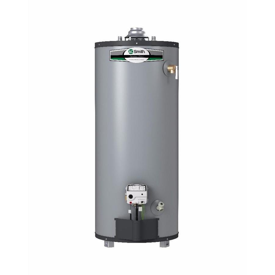A.O. Smith Signature Select 40-Gallon Short 9-year Limited 40000-BTU Natural  sc 1 st  Loweu0027s & Shop Gas Water Heaters at Lowes.com