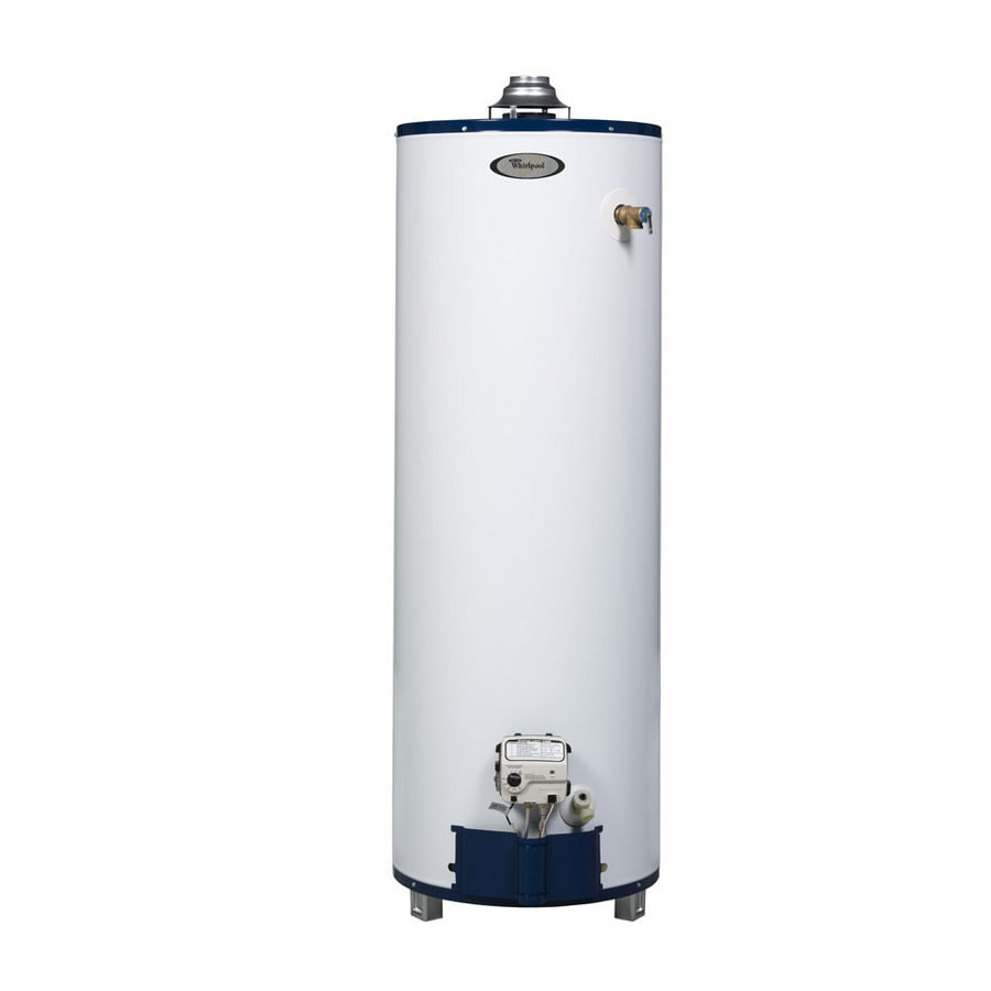 Shop whirlpool 50 gallon 6 year residential tall natural Natural gas water heater