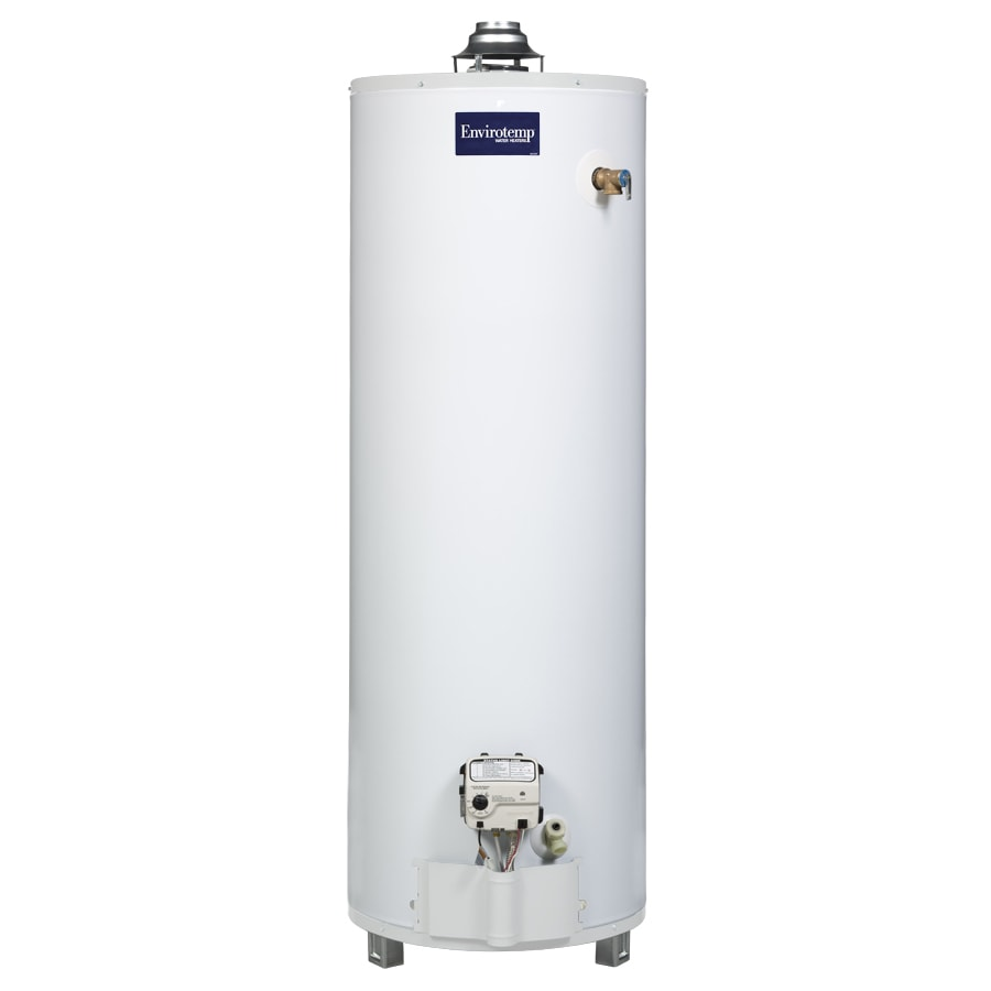 Shop envirotemp 40 gallon 3 year tank 1 year parts Natural gas water heater