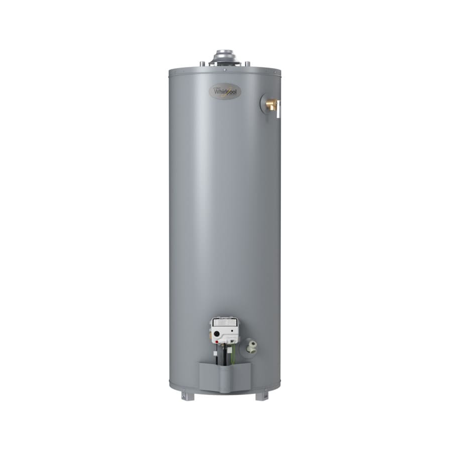Shop whirlpool 40 gallon 6 year tall natural gas water Natural gas water heater