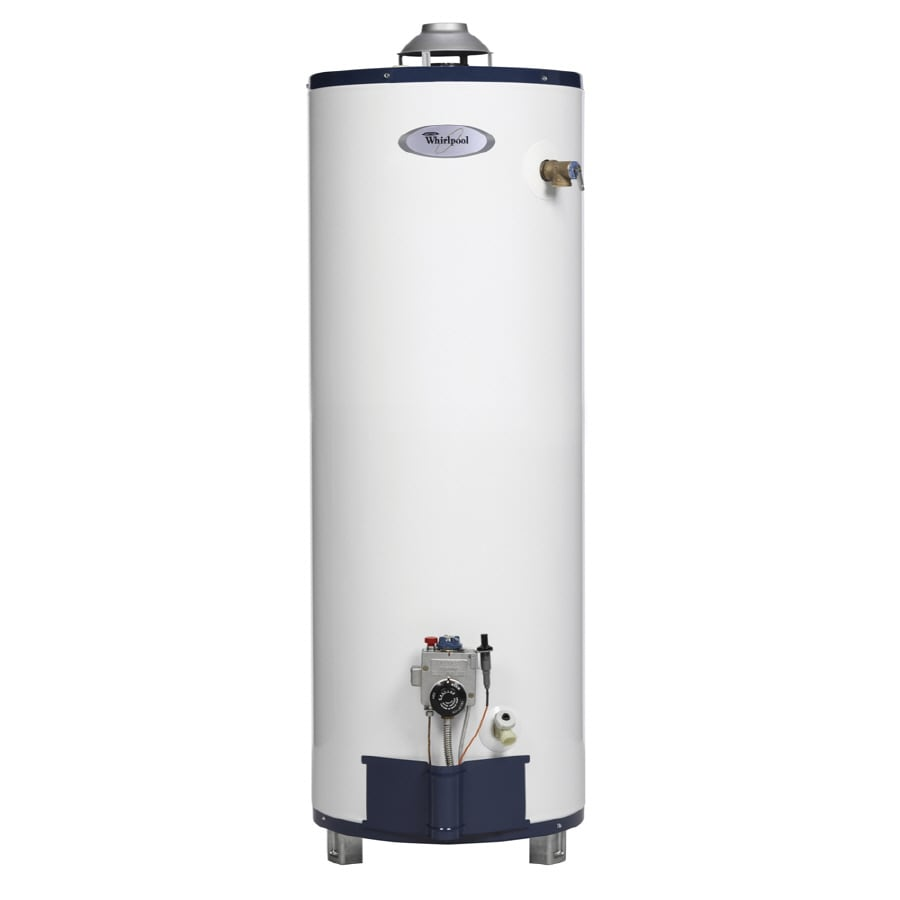 Shop whirlpool 40 gallon 6 year gas water heater natural Natural gas water heater