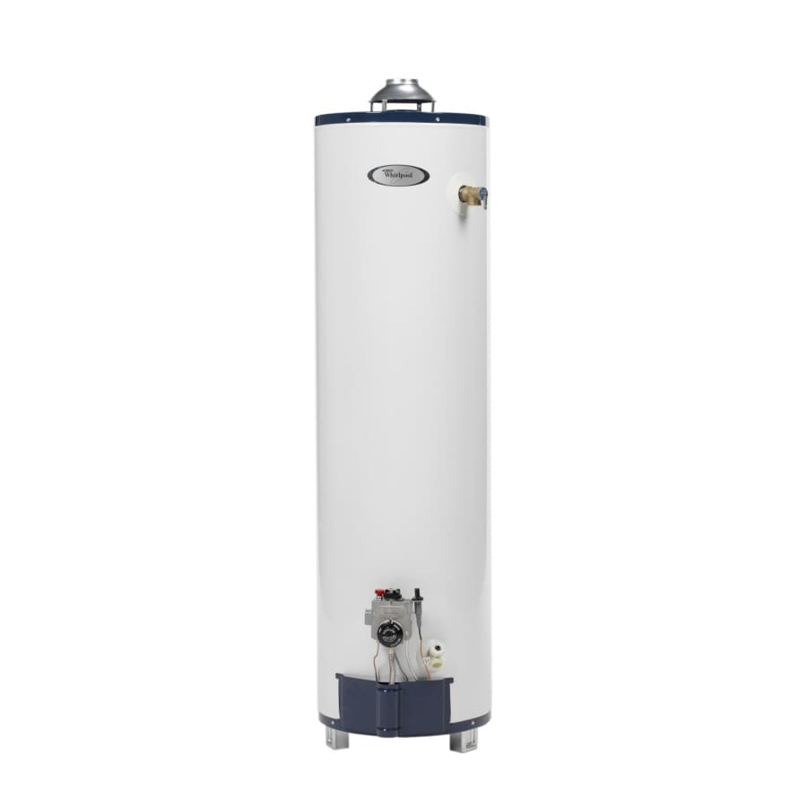 Shop whirlpool 40 gallon 6 year residential tall natural Natural gas water heater